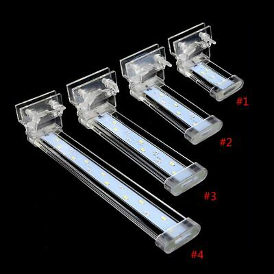4 Types LED Aquarium Lamp Fish Tank Plant Grow Crystal Clip On Lamp