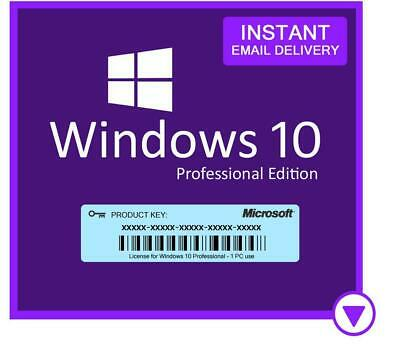 Windows 10 Pro Professional 32/ 64bit Genuine License Key ( 30 Sec Delivery )