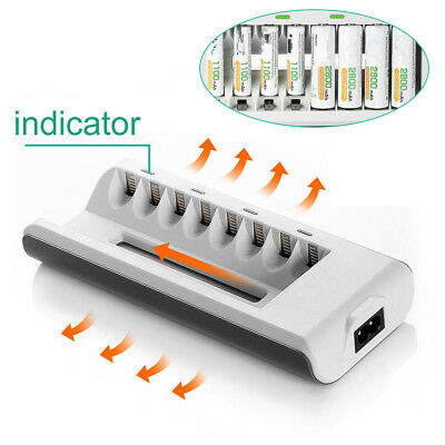 8 Slots Smart Fast Charger US Plug For AA AAA Ni-MH / Ni-Cd Rechargeable Battery
