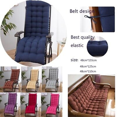 Cotton soft Seat Pad Replacement Cushion Pad Garden Sun Lounger Recliner Chair *