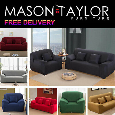 Mason Taylor 1/2/3 Seater Stretch Couch Sofa Lounge Cover Slipcover Protector AU