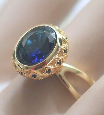 Antique Art Deco Jewellery Ring  Blue Sapphires Vintage Jewelry Size 7 N