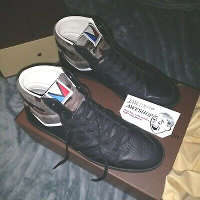 Louis Vuitton Spitfire Sneakers 2013 Barely Used Black Calfskin Camo Size 11 Us