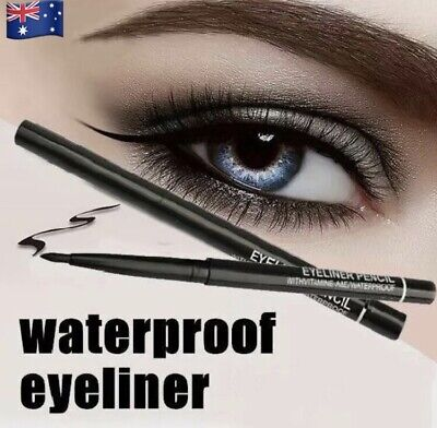 New Eyeliner Pencil Retractable Twister Makeup Waterproof Black / Coffee Colour