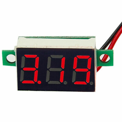 DC 0-100V Red LED 3-Digital Display Voltage Meter Voltmeter Panel Car Motorcycle