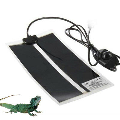 7W 14W 20W Waterproof Heat Mat Reptile Brooder Incubator Heating Pad Warm Heater