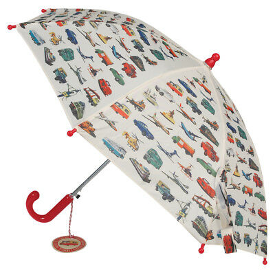 Rex London CHILDRENS UMBRELLA VINTAGE TRANSPORT. KIDS GIRLS BOYS BROLLY