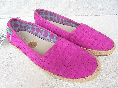 e06cce5324b New Sanuk Women s Size 8 Basket Case Sidewalk Surfers Slip-On Shoes Vivid  Violet