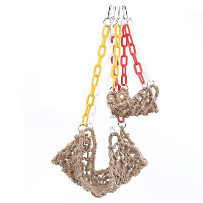 NEW Pet Parrot Bird Climbing Net Cage Toy Swing Hanging Rope Macaw Play Gym LA