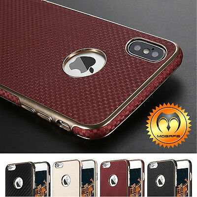 For iPhone XS X 7/ Plus Mosafe® Ultra Thin Luxury Shockproof Leather Case Cover