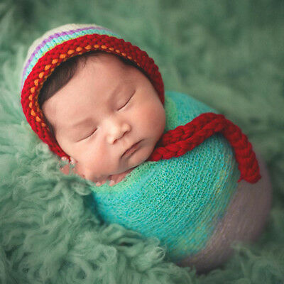 Newborn Baby Girls Boys Crochet Knit Wrap Cocoon Swaddle Photography Photo Props