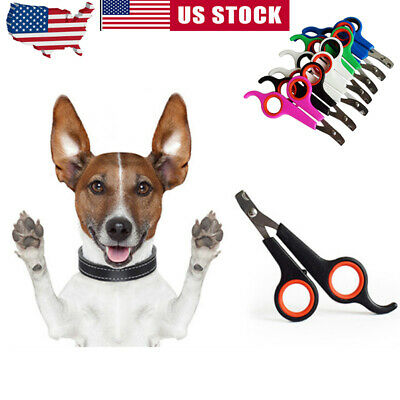 Small Pet Dog Cat Nail Toe Claw Clippers Scissors Trimmer Cutter Grooming Tool