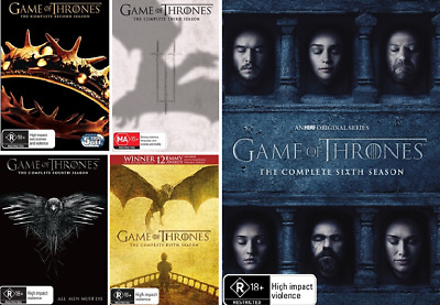 Game Of Thrones Season 2, 3, 4, 5 & 6 : NEW DVD