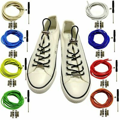 No Tie Lazy Shoelace Solid Buckle Free Elastic Children Adult Creative Shoe Lace