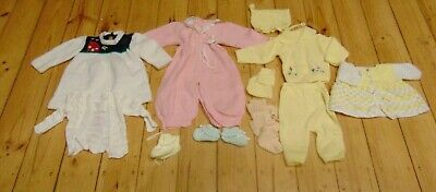 11 Vintage Retro Knitted Wool Baby Clothes Suits Cardigans Boots Birth Aged 1