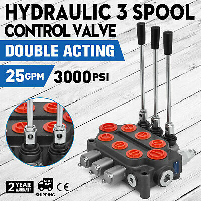 3 Spool 25 GPM RD532CCCAAA5A4B1 Hydraulic Valve Double Acting Tractors loaders