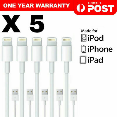 5X Apple Lightning Data Cable Charger for iPhone 7 8 8 Plus 6 X XS iPad