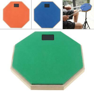 """8"""" Soft Wooden Dumb Drum Jazz Pad Exercise Mat Blow Plate Drummers Rubber"""