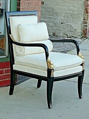 Ethan Allen Federal Regency Carved Dolphin Arm Accent chair Beautiful