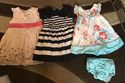 Baby Girls Pretty Dress Bundle TU Primark Pumpkin Patch Size 9-12 Months