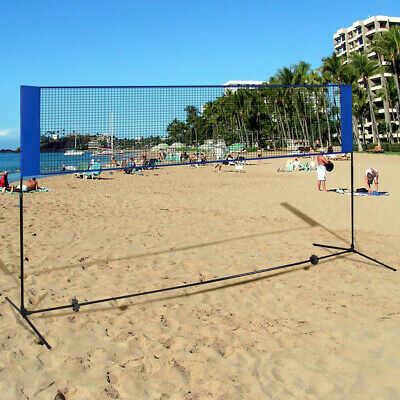 Portable Beach Badminton Volleyball Training Net 10 x 5 Feet with Carrying Bag