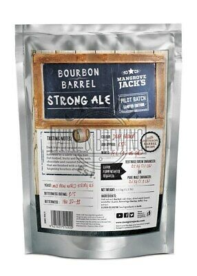 Mangrove Jacks Bourbon Barrel Strong Ale @6.5% abv Homebrew Brewery Pouch