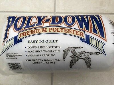 "Polydown Batting / Wadding for Patchwork Quilts - Queen size 90"" x 108"""