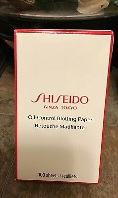 SHISEIDO Pureness Oil-Control Blotting Paper, 100 count NEW