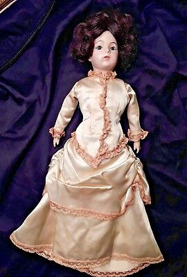 "Bru Jne Bebe Reproduction Doll in Bridal Wedding Dress French Antique 15"" France"