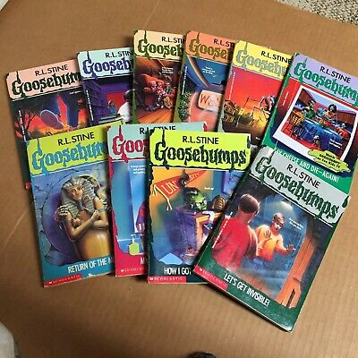 RL Stine Lot Goosebumps Books Lot Of 10 Vintage 90's Children Teen Chiller B4