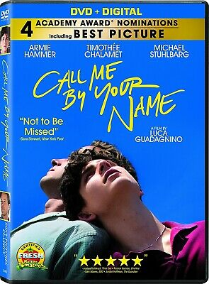 Call Me by Your Name - DVD - New - Free Shipping.