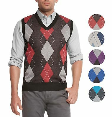 a53a637d9 BLUE OCEAN MEN S V-Neck Classic Argyle Sweater Vest (Sv-255 ...