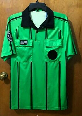 367b5d1b3af Official sports Pro USSF soccer referee jersey Green short sleeve old style  - S
