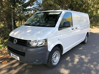 2011 Volkswagen VW Transporter T5 T30 LWB White AC Electric pack, Bluetooth,