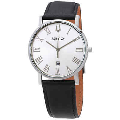 Bulova American Clipper Quartz Silver Dial Men's Watch 96B312