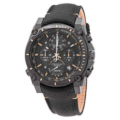 Bulova Precisionist Black Carbon Fiber Dial Men's Chronograph Watch 98B318