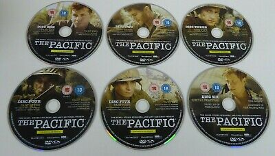 The Pacific (DVD, 2010, 6-Disc Set, Box Set) DISCS ONLY
