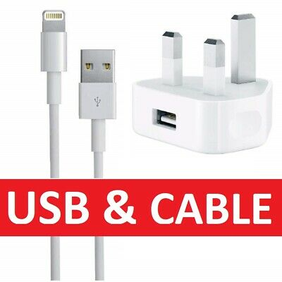 100% Genuine CE Charger Plug & USB Sync Cable for Apple iPhone 5 S 6 7 Plus iPad