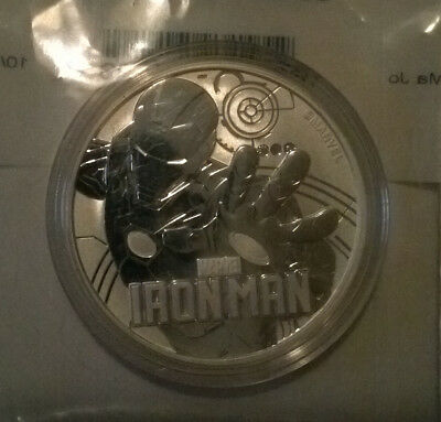 MARVEL SERIES IRON MAN Coin 1 oz .999 Fine Silver 2018 Limited Collectible