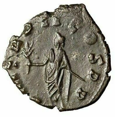 "Claudius II Gothicus AE Antoninianus ""Holding Branch"" Dated 269 AD Scarce nEF"