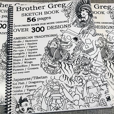 Brother Greg Outlines Vol. I - Traditional Tattoo Flash Sketch Book