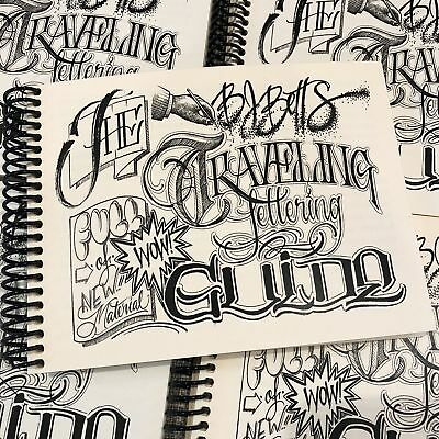 BJ Betts - The Traveling Lettering Guide - Tattoo Lettering Flash Book