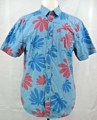 76887ad172 VANS MEN S JOEL Tudor Montauk Hawaiian Shirt-Blue Red-Small -  24.98 ...