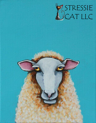 ACEO Limited Edition Art Print acrylic painting by Lucia Stewart Little Sheep