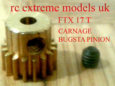 Hard Wearing FTX Carnage//Bugsta//Outlaw Pinion Gear Steel 17t EP 1pc