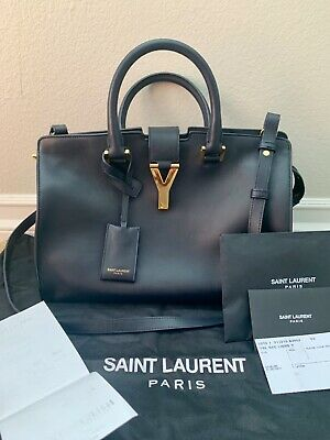 6d991da2232 AUTHENTIC YSL YVES Saint Laurent Bag Sac Ligne Y-Navy - $1,275.00 ...