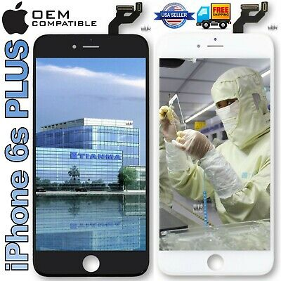 OEM Compatible iPhone 6S PLUS Replacement LCD Touch Screen Digitizer Black White