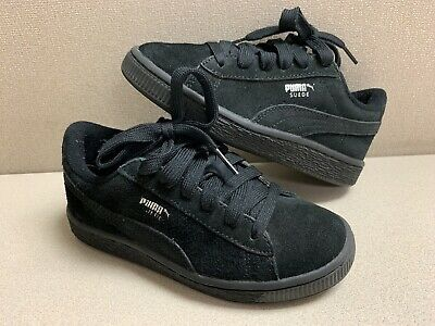 0bdc97180234 Puma Suede Classic Black Little Kids Girls Boys Size 12 Casual Shoes  Sneakers