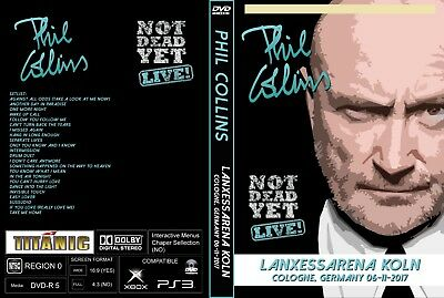 Phil Collins. 2017. Live In Cologne. Germany. Dvd.