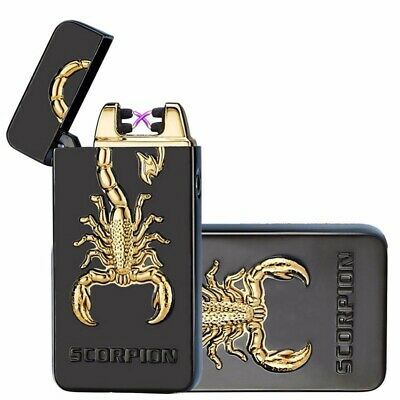 Dual Arc USB Lighter Rechargeable Flameless Electric Windproof Cigarette Plasma
